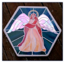 angel stepping stone irridized wings