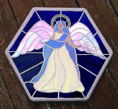 mosaic angel stepping stone
