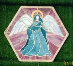 stained glass stepping stone - angel
