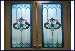 stained glass panels for cabinets and windows