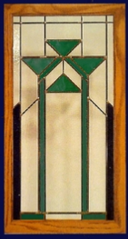 contemporary stained glass window green