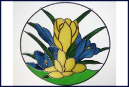 crocus stained glass window