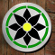 green & black daisy stepping stone