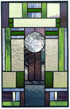 deco 15 stained glass window