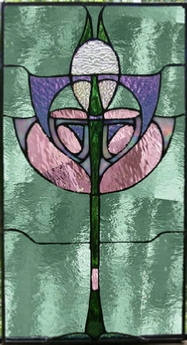 deco 2 stained glass panel
