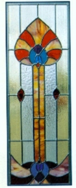 deco 1 stained glass window
