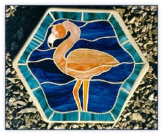 flamingo stepping stone
