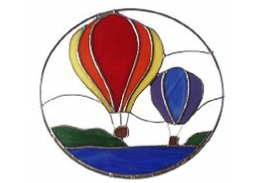 stained glass hot air balloons