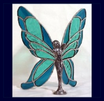 teal and blue butterfly wings