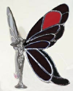 black and red glass wings