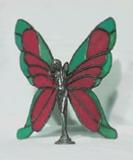 red and green butterfly wings