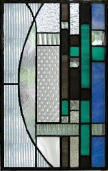 contemporary stained glass panel 21