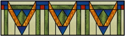 craftsman stained glass transom