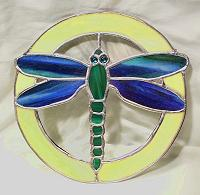 dragonfly suncatcher yellow ring