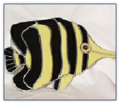 butterfly fish suncatcher
