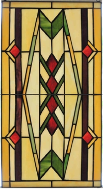 southwest 10  stained glass panel