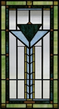 southwest 9 stained glass window panel