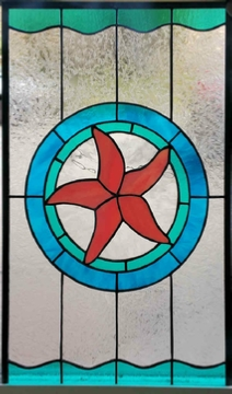 starfish of the sea stained glass