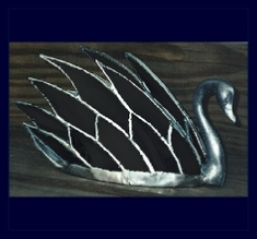 black glass swan