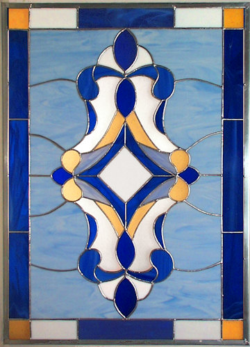 Victorian Blue window panel