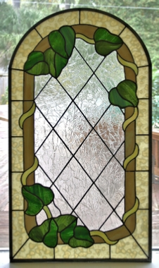ivy vine stained glass window