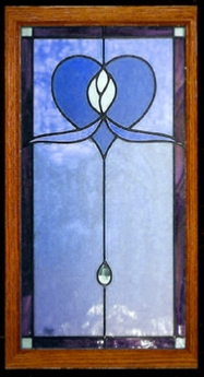 nouveau 13 stained glass cabinet insert