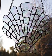 scallop shell hanging panel