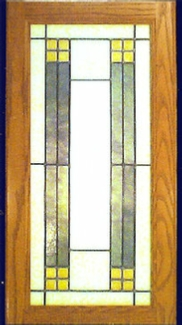 simple 13 stained glass panel