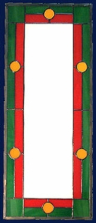 simple 5 stained glass panel