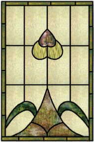 simple 9 stained glass panel