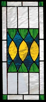 Traditional 7 stained glass panel