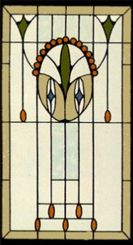 traditional 51 art glass panel