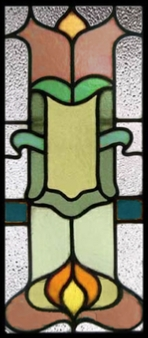 stained glass panel - Traditional Edwardian