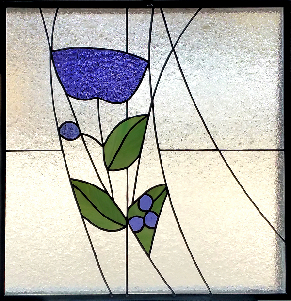 unique flower stained glass window
