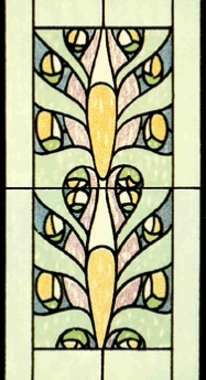 unique 125 stained glass panel insert