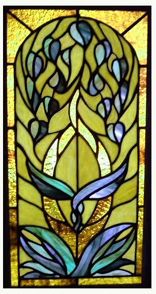 unique stained glass window panel