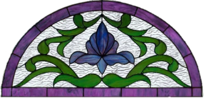 Victorian stained glass transom