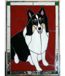 shetland sheepdog window