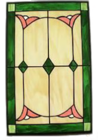 simple stained glass cabinet window