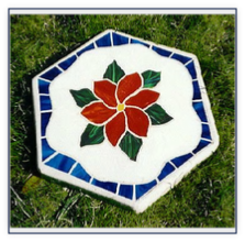 clematis mosaic stepping stone